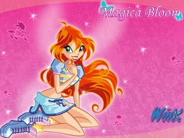 3d обои Magica Bloom Winx Club  мультики