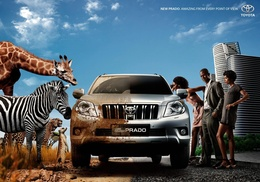 3d обои Toyota. New Prado. Amazing from every point of view.  бренд