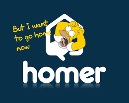 3d обои But I want to go home now. Homer  мультики