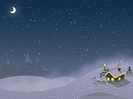 wallpaper house in the snow beside a Christmas tree and snowman smoke