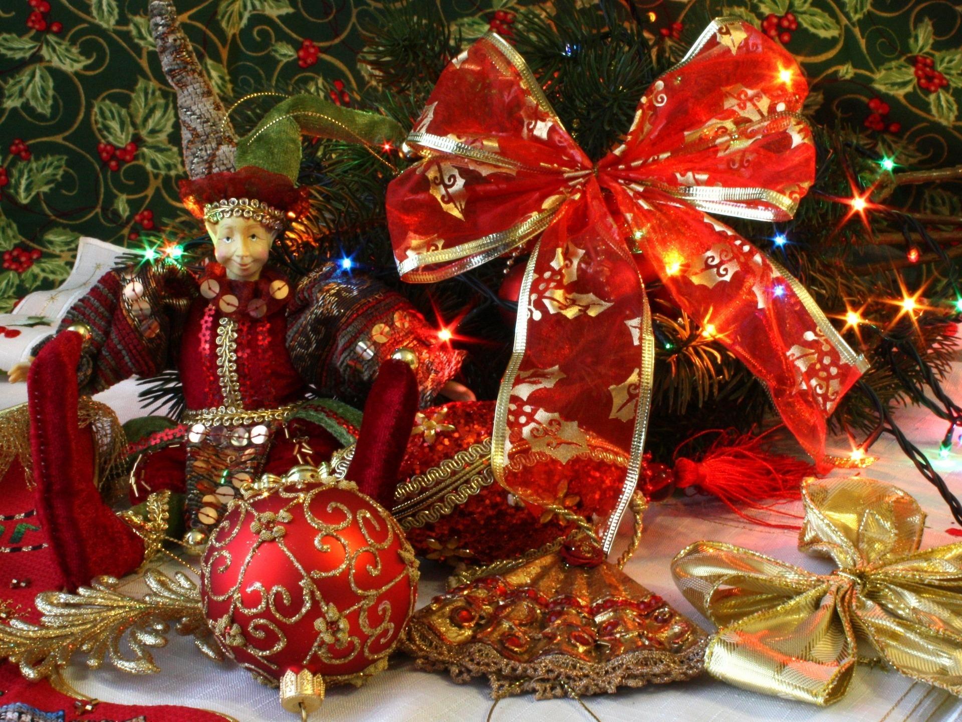 3d шпалери новорічні іграшки новий рік