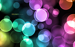Abstract wallpaper with colored lights shooting out of focus (abduzeedo abducted by design) 1920x1200