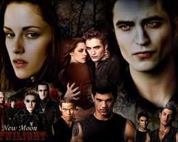 Wallpaper Twilight New Moon movie all the characters in the film