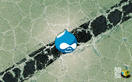 Wallpaper Blue drop in points (Drupal Free secure reliable CMS) 1920x1200