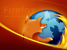 3d обои Firefox  safe, faster, better  1600х1200