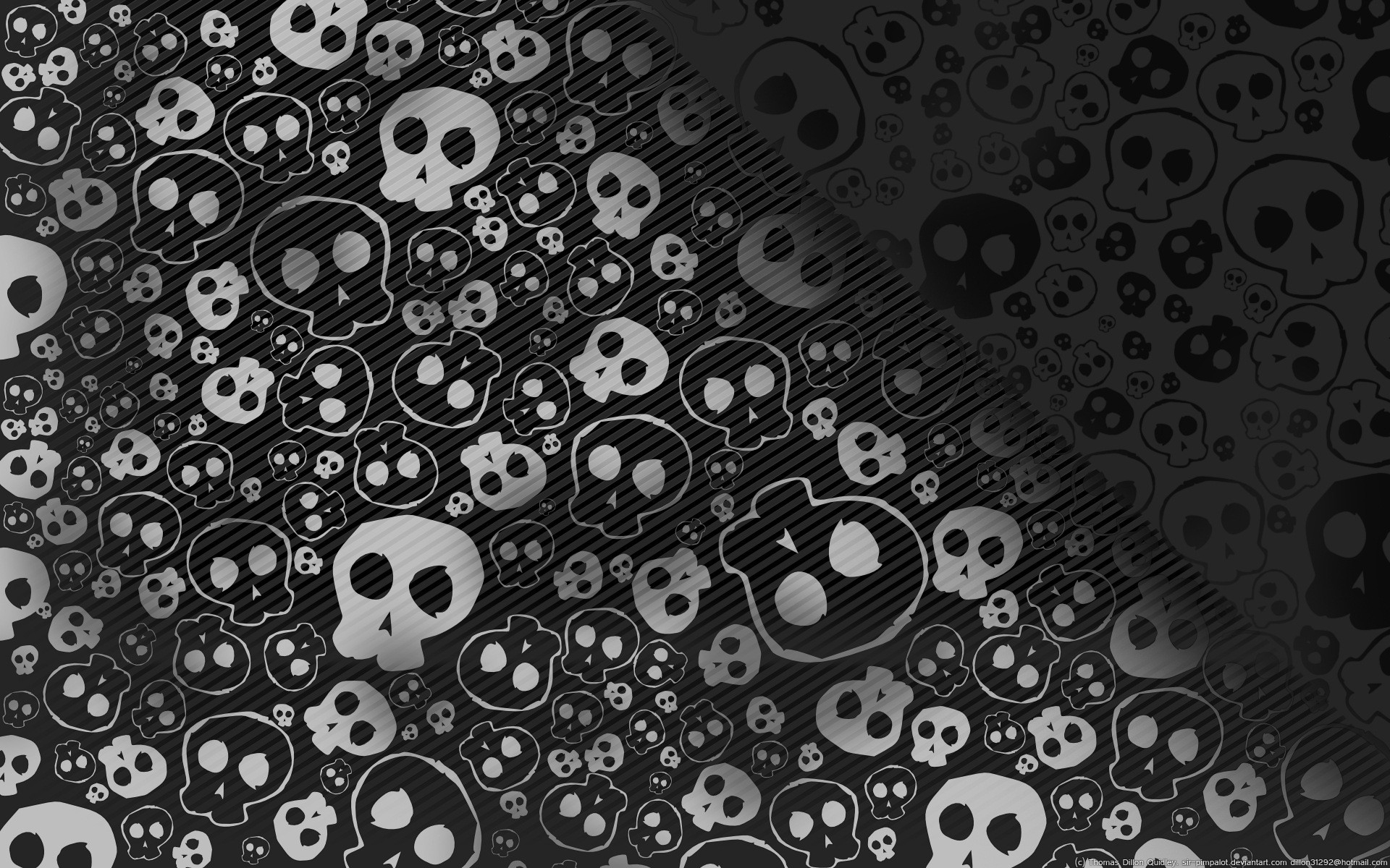 Painted wallpaper skull skull. Wallpapers 3d for desktop, 3d pictures