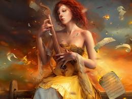 Music wallpaper 1024x768 fire