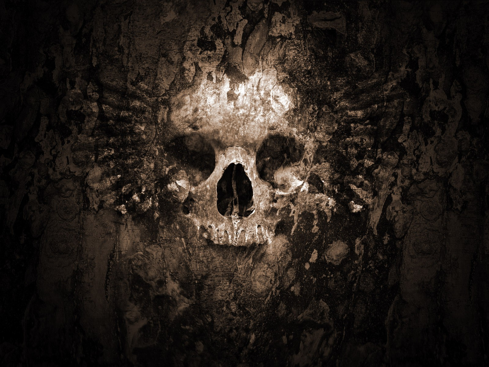 Gothic Skull wallpaper. Wallpapers 3d for desktop, 3d pictures