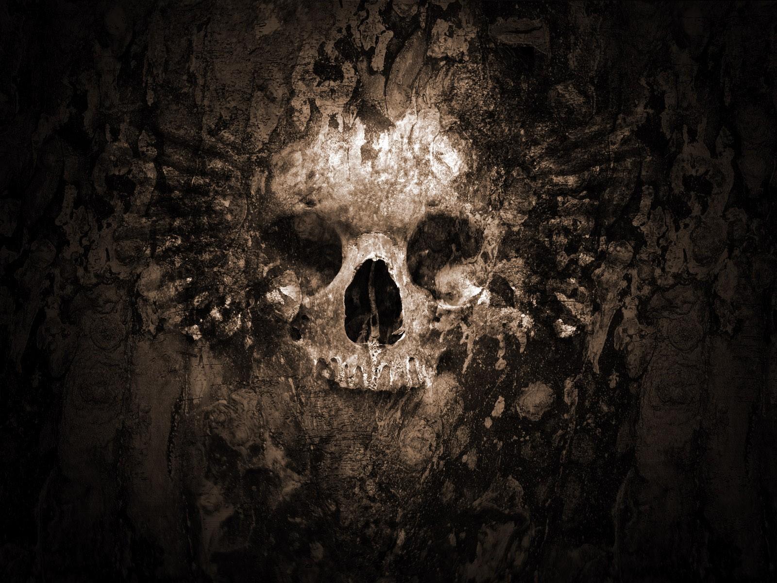 Gothic Skull wallpaper. Wallpapers 3d for desktop, 3d pictures