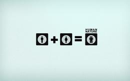 3d Wallpaper homme + femme = la nature humaine (nature humaine), les filles