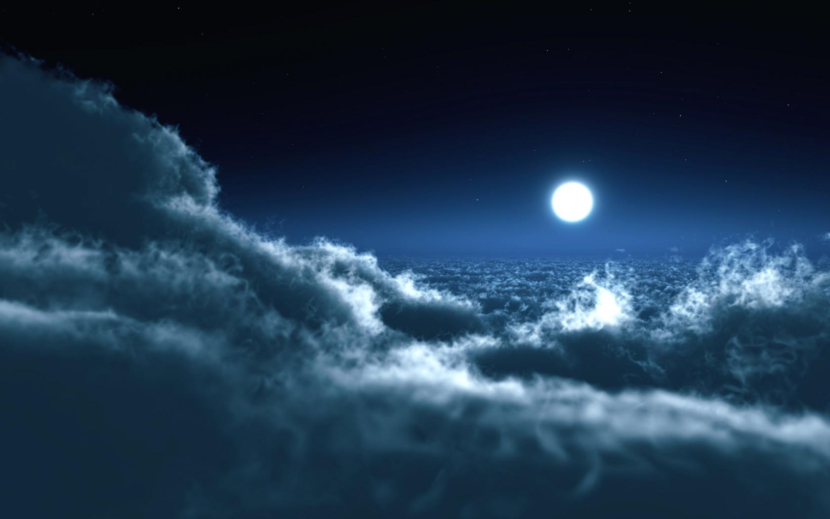 Mond Und Sterne Wallpaper Nachthimmel Mit Sterne