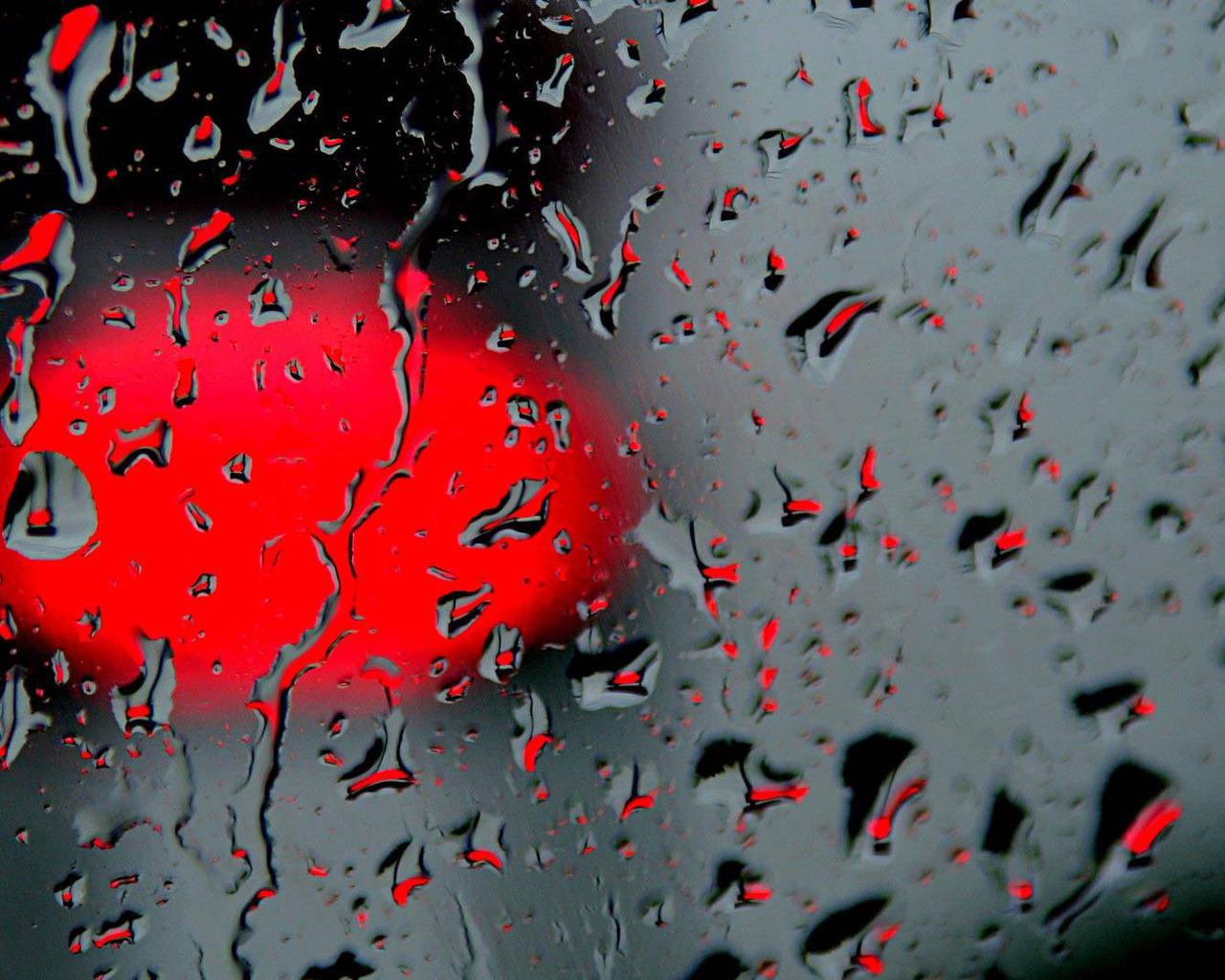 3d обои дождь на стекле дождь 34481