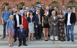 wallpapers Gruppenbild der Hauptdarsteller der Harry-Potter-Filmen (Harry Potter, Emma Watson, Bonnie Wright, Rupert Grint, Evanna Lynch) 2560x1600