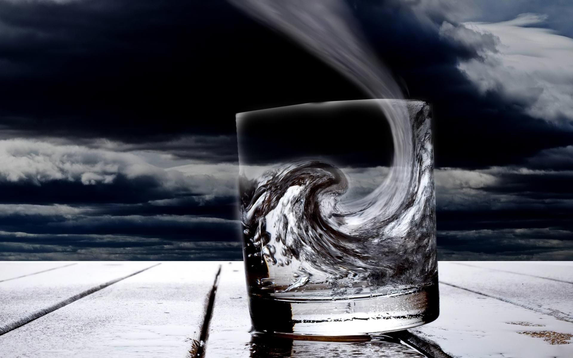 Sturm im Glas wallpapers Surrealismus / Surrealismus