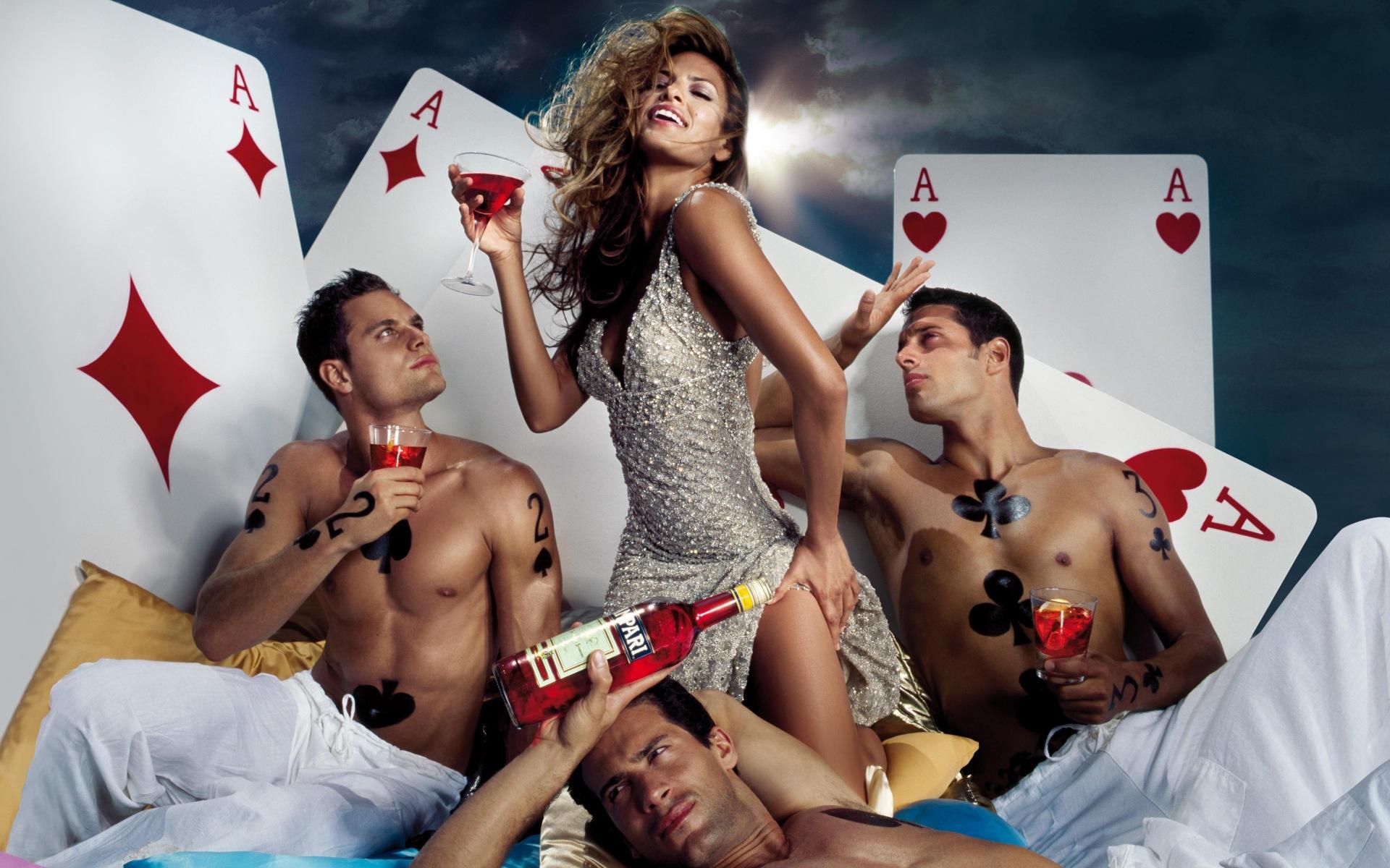 Три парня и девушка порно русское 159
