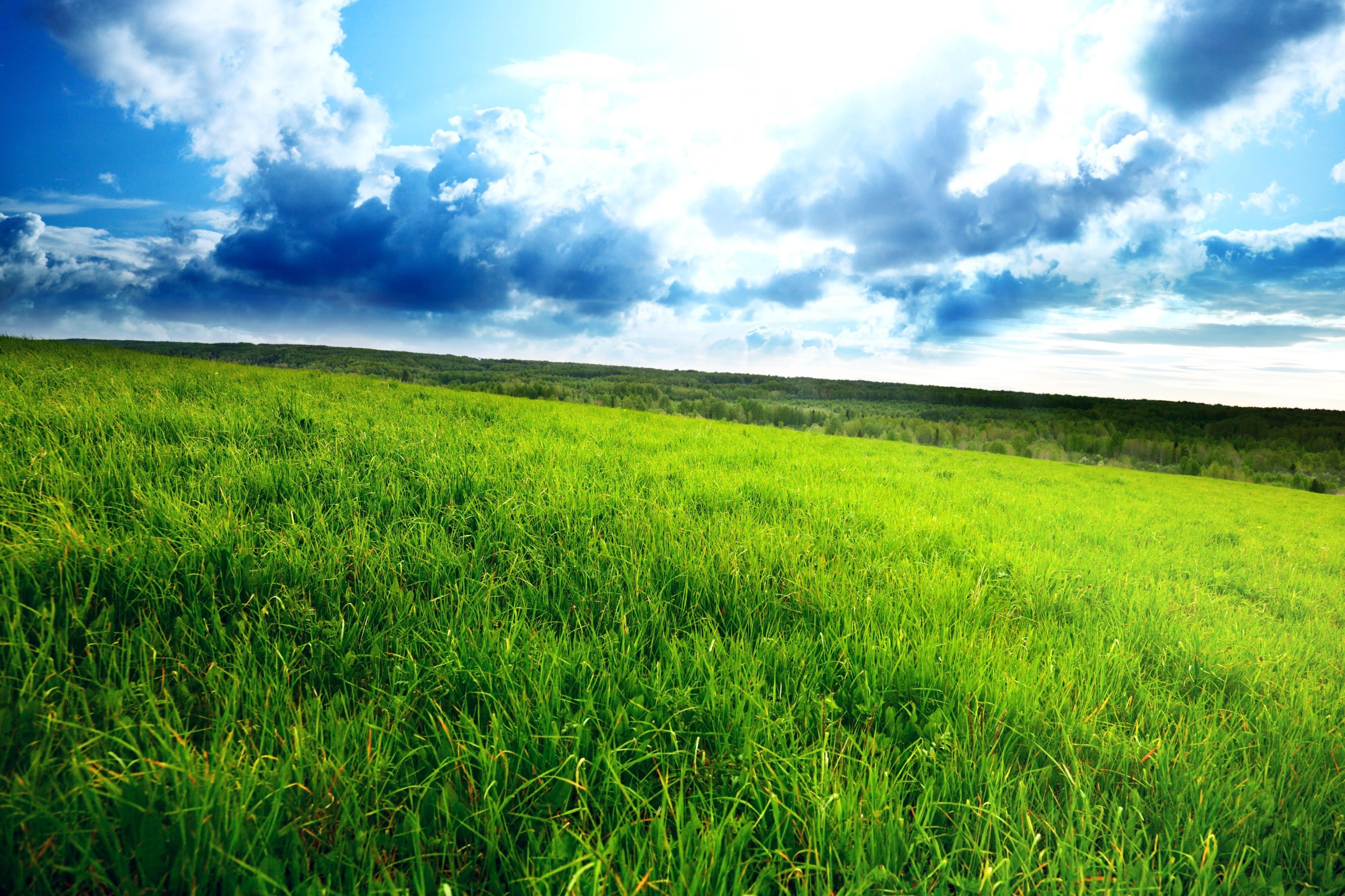 Голубое небо с облаками природа