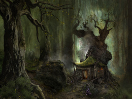 wallpaper lonely cabin in the woods smoke