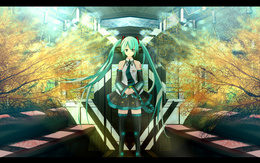 3d обои Vocaloid Miku Hatsune / Вокалоид Мику Хатсуне  аниме