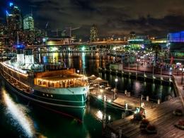 3d обои Ночной порт Сиднея, Австралия / Sydney, Australia  1680х1260