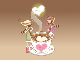 Love wallpaper couple mixes coffee (Love is ...) smoke