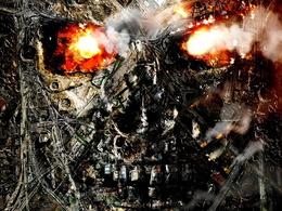 Wallpaper War, the city in flames (FA Terminator) smoke