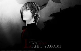 3d обои Кира из аниме Death note (I am Kira. I am justice. A am God. A am Light Yagami)  аниме