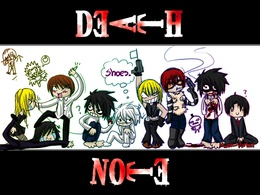 3d обои Аниме Death Note  мужчины