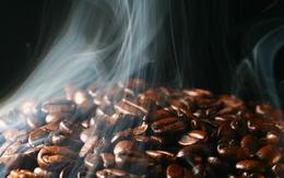 Aromatic coffee beans wallpaper smoke