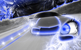 3d обои Fantazy-CaR-Style-eyes speed car  глаза