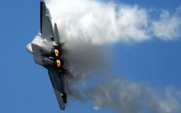 F22 Raptor wallpaper smoke