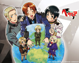 3d обои Hetalia Axis Powers  мужчины