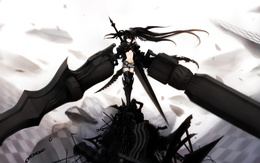 3d обои Insane Black Rock Shooter  аниме