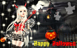 Demon Wallpaper (Happy Hallowen) girl